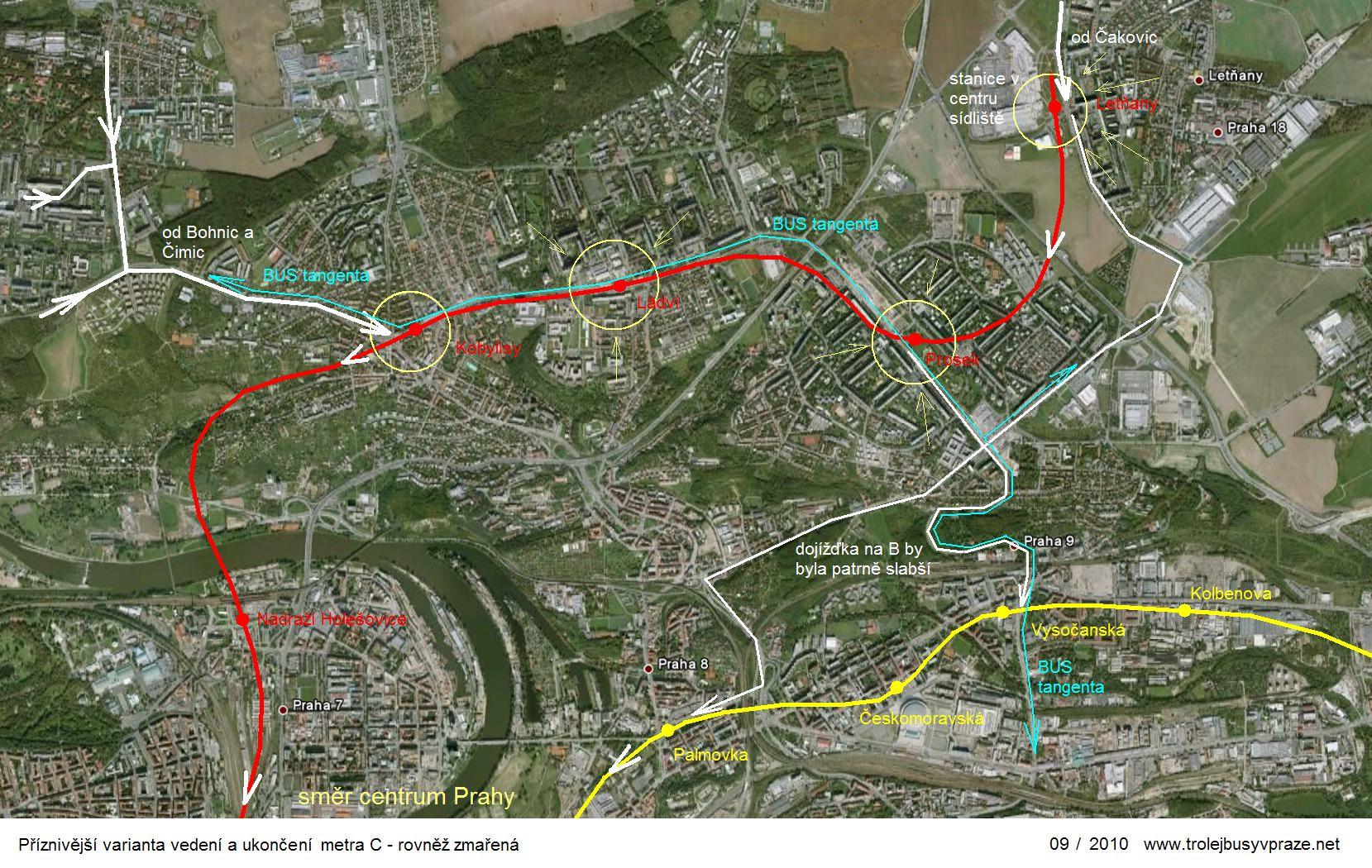 Metro letňany mapa